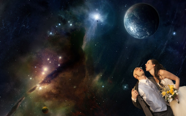 jes and tony in space
